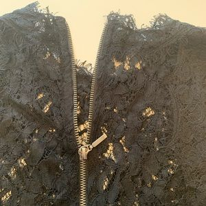 Zara Tops - Zara Black Lace sleeves crop top. Size S.